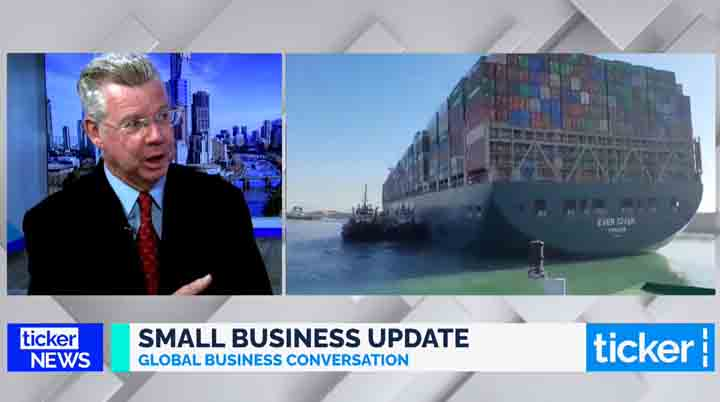 Bill Lang on Ticker TV to discuss the latest in global small business news
