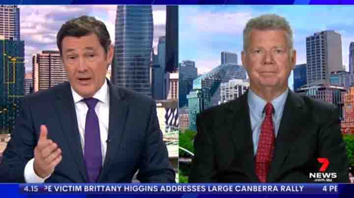 Bill Lang on Channel 7 News