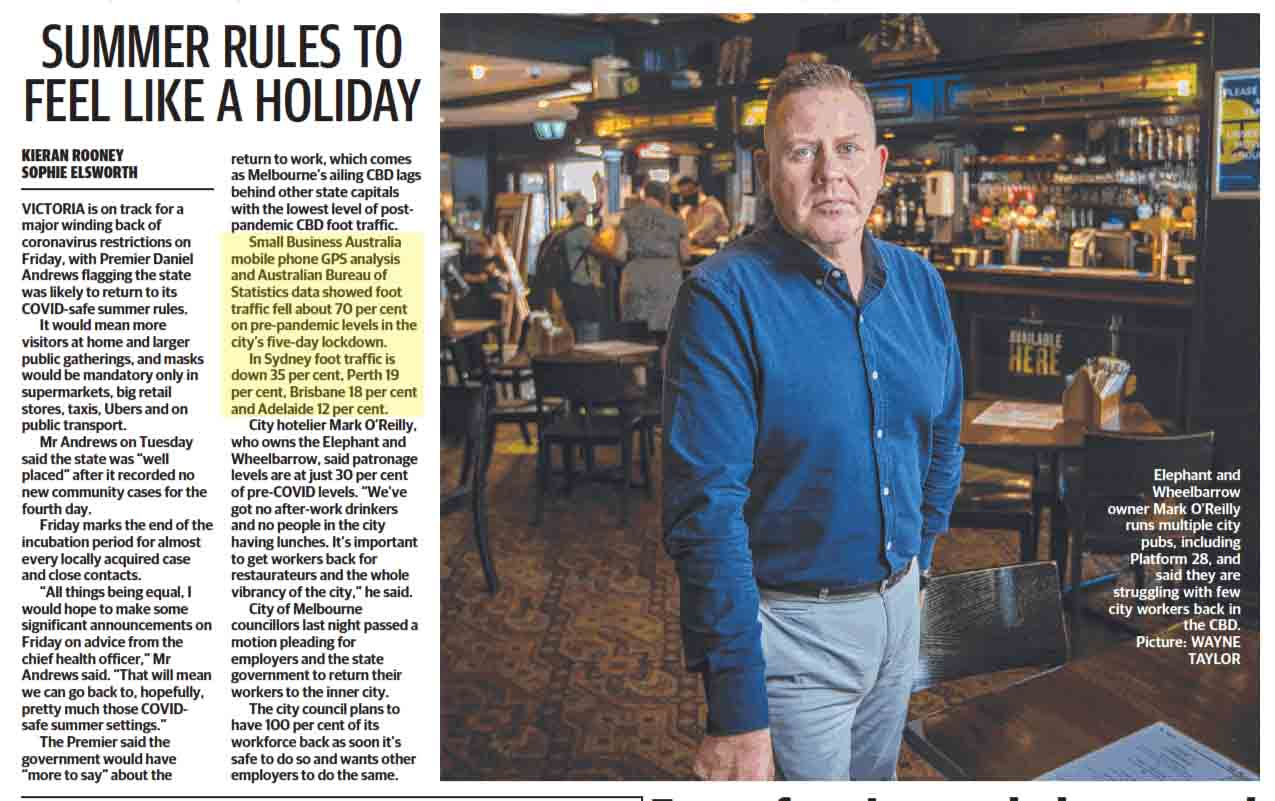 Bill Lang in the Herald Sun