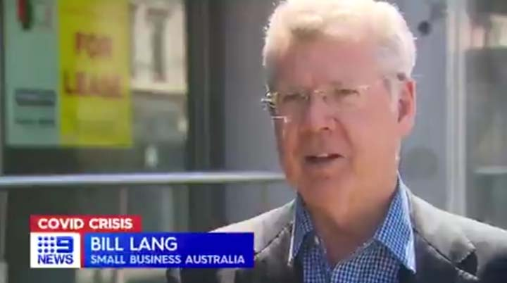 Bill Lang on Channel 9 News