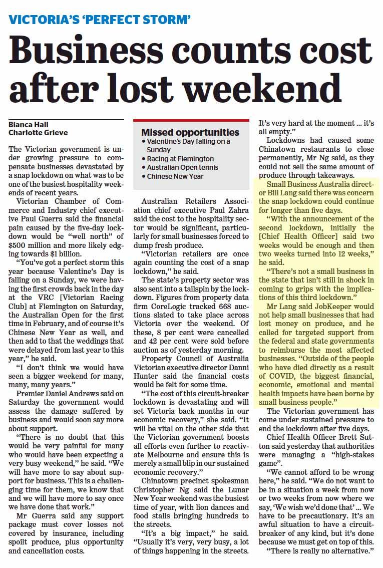 Bill Lang in the Sydney Morning Herald